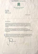 JOHN GUMMER CON MP SIGNED LETTER SADDAM HUSSAIN ,WEAPONS OF MASS DESTRUCTION