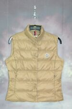 AUTHENTIC MONCLER EMBROIDERED LOGO PATCH PADDED DOWN GILET,JACKET,SIZE:2,MEDIUM