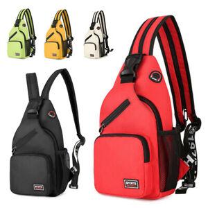 Men Women Chest Sling Bag Hiking Cross Body Messenger Shoulder Sports Backpacks