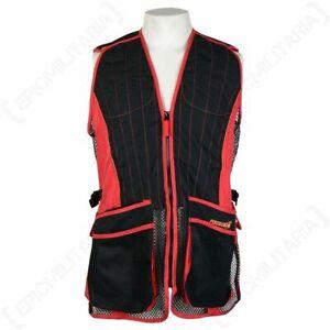 Skeet Shooting Vest Evo - Red - Hunting Outdoors Hiking Jacket Top Clay Pigeon