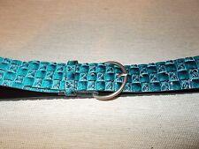 "Womens Blue Basketweave Belt 1.25"" wide and 33.25"" long"