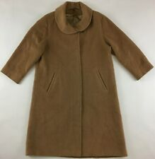 Agnona Lanerie made in Italy Alpaca wool coat vintage camel beige womens 19