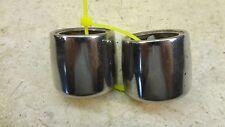 1975 kawasaki kv100 enduro k465~ chrome fork trims