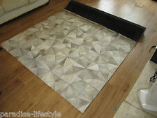 Patchwork Leather Cowhide Rugs Hairon Carpets Stitched Room Office Luxury Design