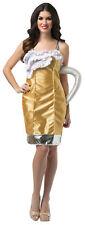 Beer Mug Dress Adult Women's Costume Halloween Fancy Dress Rasta Imposta