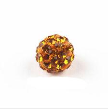 Multi-color Shamballa Kristall Perlen Beads Strass Disco Kugel Ball DIY 10mm