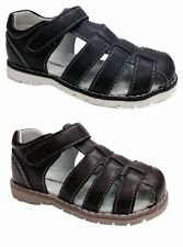 Sandals Faux Leather Medium Width Shoes for Boys with Buckle