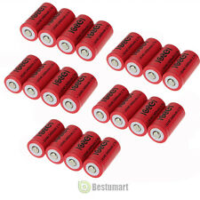 20 pcs 16340 Li-ion Rechargeable Battery 2400mAh 3.7V CR123A 123A CR123 16340
