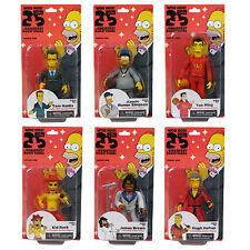 "THE SIMPSONS - 25th Anniversary 5"" Series 1 Action Figure Set (6) by NECA #NEW"