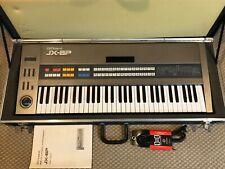 Roland JX 8P Fully Analog Synthesizer 61 Key Six Note Polyphonic w Case. Tested