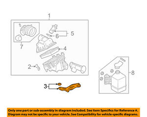 FORD OEM Air Cleaner Intake-Air Cleaner Mount Bracket 6E5Z9647AA