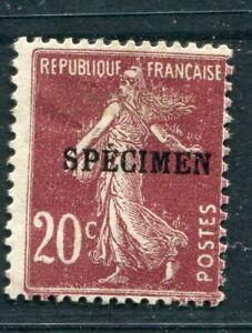 D183509 France MH Sower 20c brown 'SPECIMEN' overprint