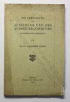 Starke Behandlung der Aussteuer und des Aussteueranspruches 1905 Recht Gesetz xz
