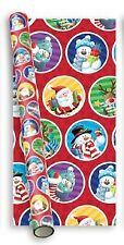 10m (2x5m) Children's Christmas Gift Wrapping Paper Roll - Red Santa Friends