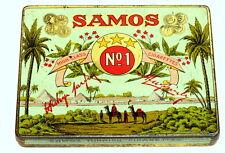 Oriental Egypt Camel Samos Turkey Flat 50 Cigarette Tobacco Tin 1930s