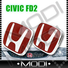 "RED ""H"" LOGO EMBLEM BADGE for CIVIC FD2 TYPE R ( FRONT & REAR )"