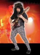 Heavy Metal Zebra Pants 80s Rock Star Dress Up Halloween Adult Costume Accessory