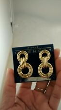 Pretty vintage runway Givenchy doorknocker  gold tone earrings  statement