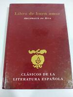 Libro del Buen Amor Arcipreste de Hita 2001 Ed Rueda - LIBRO Español - 3T
