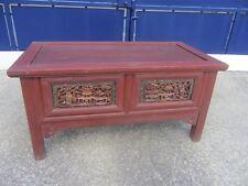 ancien meuble chinois table basse tiroirs sculptés