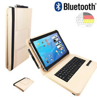 "Bluetooth Tastatur Tasche fur Samsung Galaxy Tab A 2016 T585N Hulle 10.1"" Beige"