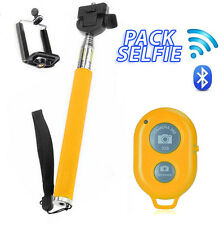 Selfie Palo Extensible Monopod compatible Iphone Samsung Bluetooth AMARILLO