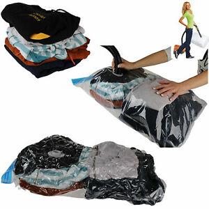 10x Strong Vacuum Storage Bags Space Saving Compressed Bag Vaccum Pack Saver