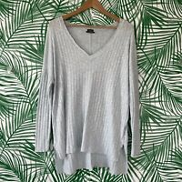 Urban Outfitters Out From Under Ribbed Blue Long Sleeve Top Women's Size Small