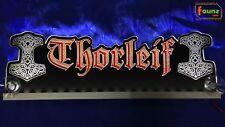 LED LKW Trucker Leuchtschild Namensschild Wunschname Mjölnir Thorshammer12/24V