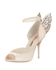 NEW Sophia Webster Flutura Nude Patent Butterfly Wings Heels Sandal US 36.5
