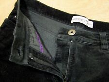 "Michele MAGIC Casual Comfort/Curvy Corduroy Jeans Black 10UK 26"" Leg Petite"