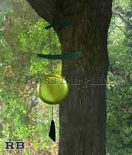 """NEW 23"""" Asian Gong Brass Metal & Wood Outdoor Yard Patio Wind Chime"""