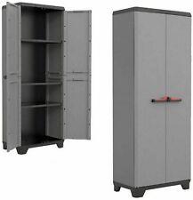 KIS Stilo Cabinet High 68 x 39 x 173cm Armadio Portascope in Plastica - Grigio