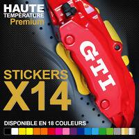 Stickers autocollants adhésifs pour étrier de frein - VOLKSWAGEN GTI VW