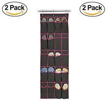 2 Pack Hanging Shoe Organizer Caddy 20 Pocket