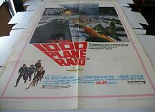 THE 1000 PLANE RAID POSTER ONE SHEET - 27 X 41 - 1963