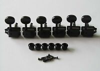 Black Split Shaft Vintage Guitar Tuning Keys Tuners Machine Heads for Strat Tele