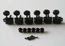 Black Split Shaft Vintage Guitar Tuning Keys Tuners Machine Heads for Strat Tele