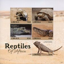 Liberia 2019 MNH Reptiles of Africa 5v M/S Snakes Lizards Turtles Stamps