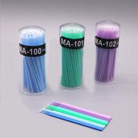 100Pcs/Barrel Durable Micro Eyelash Extension Micro Swab Brush Disposable Tools