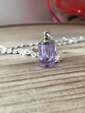 Tiny Lilac Vial Glass Necklace & Pipette