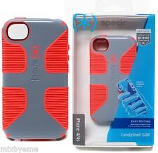 Speck Case APPLE iPhone 4 4s Candyshell Grip Grey/Orange Cover Shell Bumper Skin