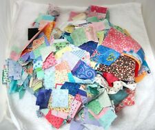 Large Pile ! Quilting Squares Piece Sweet Fabrics Old Florals & Solids Many Size