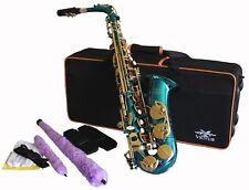 Venus ALTO SAXOPHONE  Sax - AQUA BLUE & GOLD,   Ready to Play,  NEW