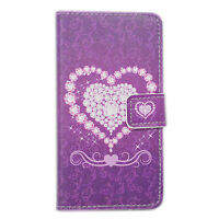 Stand Book Wallet Design Flip PU Leather Cover Soft Case For Multiple Cell Phone