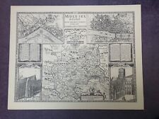 MIDDLESEX 1610 by John Speed - Uncoloured