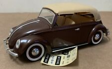 Solido Coccinelle VW 1949 brown with stickers 1/17 diecast France scarce car