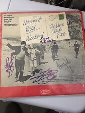 Dave Clark Five signed alum by 4: Dave Clark, Mike Smith, Lenny & Rick
