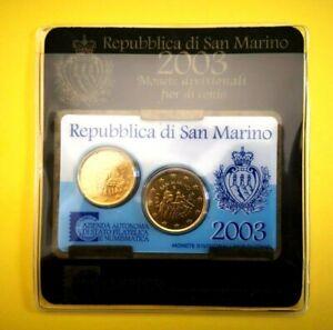 Coincard 20 cent et 50 cent SAINT MARIN 2003