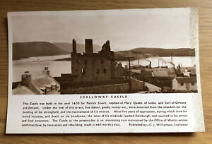 Scalloway Castle vintage postcard